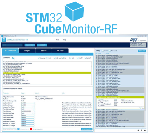 STM32CubeMonRF - Software tool allowing testing the radio